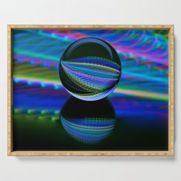 All colours in the glass ball Serving Tray