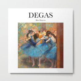 Degas - Blue Dancers Metal Print