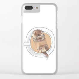 The Tea Otter Clear iPhone Case