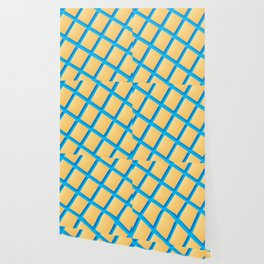 Abstract collage of sheets of colored paper Wallpaper