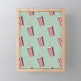FAST FOOD / Softdrink - pattern Framed Mini Art Print