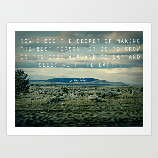 Whitman: Earth Art Print