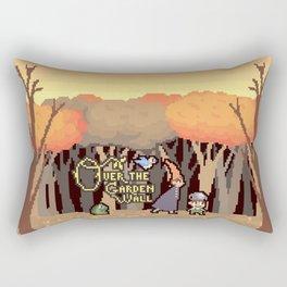 Over the Garden Pixel Rectangular Pillow