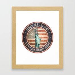 Stand For The Flag Framed Art Print