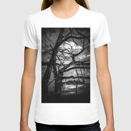 Real Life Ladders Game At Möhne Reservoir Lake bw T-shirt