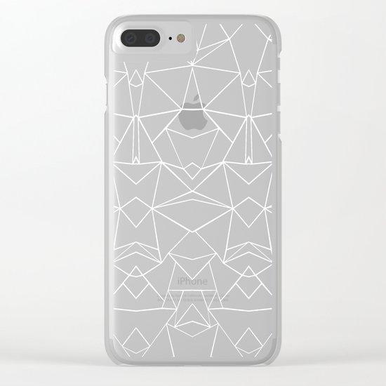 Ab Mirror Black Clear iPhone Case