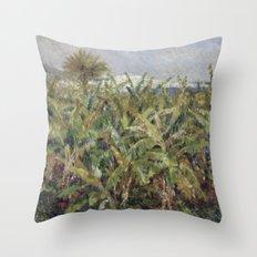 Renoir - Field of Banana Trees, 1881 Throw Pillow