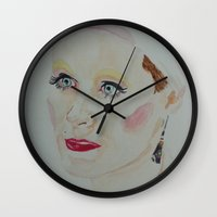 jared leto Wall Clocks featuring Jared Leto by Danielle Lima