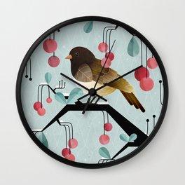 Bird, Watching Wall Clock