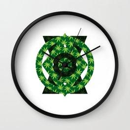 420 Pattern Wall Clock