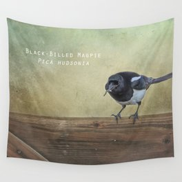 Magpie with a Worm Wall Tapestry