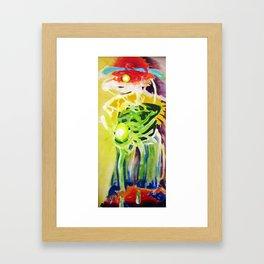 Internal Contours Framed Art Print