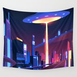 Synthwave Neon City #18 Wall Tapestry