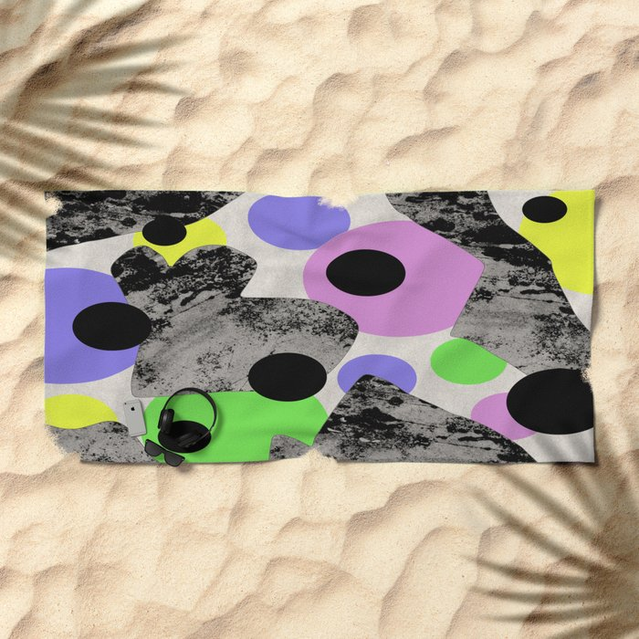 Pastels and Textures Beach Towel