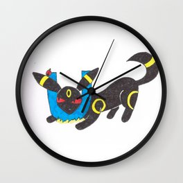 U is for umbreon Wall Clock