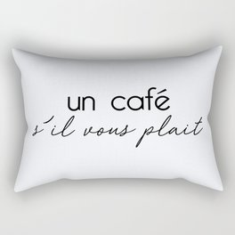 66. Coffee Please Rectangular Pillow