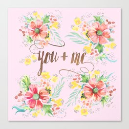 you + me Canvas Print