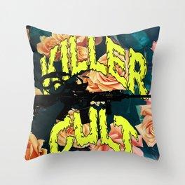 Killer Cult Throw Pillow