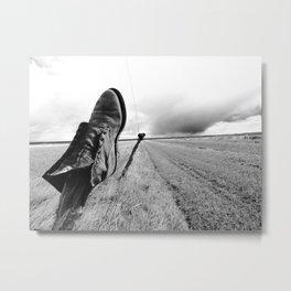 Molt Road Boot, Montana Metal Print