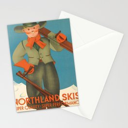northland skis   super quality - super performance  Affiche Stationery Cards
