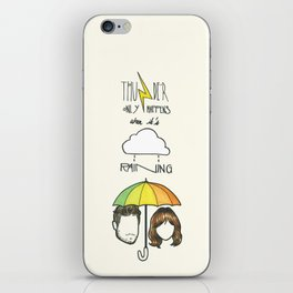 """Thunder only happens when it's raining"" Dan Smith ft Gabrielle Aplin iPhone Skin"