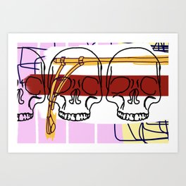 3 Knuckle Heads Art Print