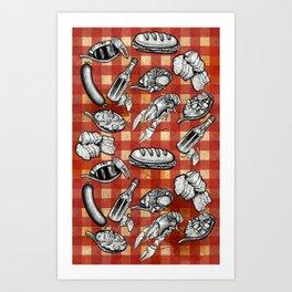 Cajun Food! Art Print