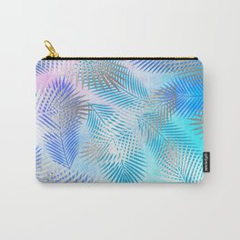 Watercolor and Silver Feathers on Watercolor Background Carry-All Pouch