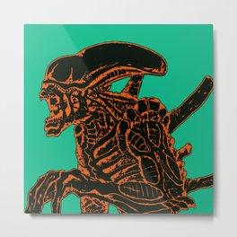 Tri Color Alien Metal Print