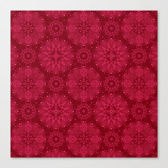 Red monochrome ornament . Canvas Print