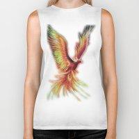 phoenix Biker Tanks featuring phoenix by OLHADARCHUK