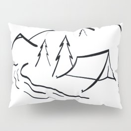 Camping Is In Tents Tshirt Pillow Sham