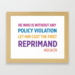 Reprimand Framed Art Print