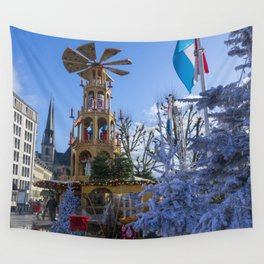 Luxembourg winter turbine Wall Tapestry