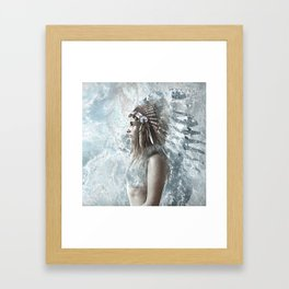 feather and the sea Framed Art Print