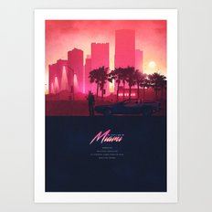HOTLINE MIAMI ORIGINAL REVAMPED Art Print