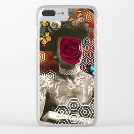 girl with tattoo Clear iPhone Case