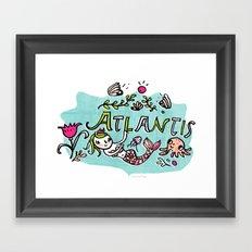 Candy Atlantis Framed Art Print