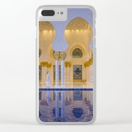 Sheikh Zayed Grand Mosque in Abu Dhabi Clear iPhone Case