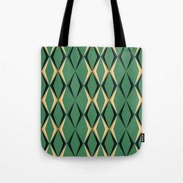 Art Deco Green & Gold Tote Bag