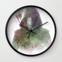 arrow Wall Clocks featuring Arrow by NKlein Design