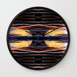 Colorful bright lights at night 2 Wall Clock
