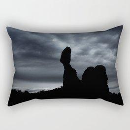 Moonrise Over Balanced Rock .3 Rectangular Pillow