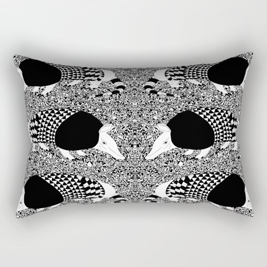 Static Armadillo Rectangular Pillow
