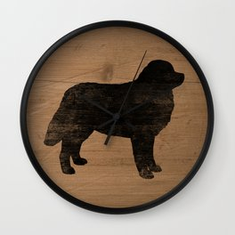Bernese Mountain Dog Silhouette(s) Wall Clock