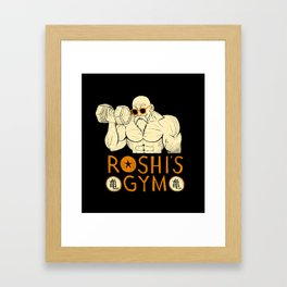 roshi's gym Framed Art Print
