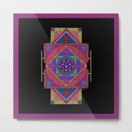 Just Another Roll of the Dice (Purple) Metal Print