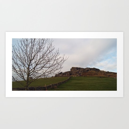 Almscliff Crag Art Print