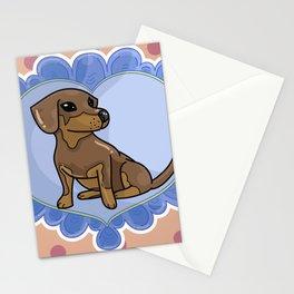 Daschund Heart Stationery Cards