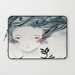 One With the Sea // ink //watercolor   Laptop Sleeve